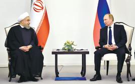 מנהיגי רוסיה ואיראן, פוטין וחמינאי