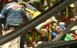 חילוץ לאחר רעידת האדמה באיטליה