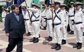 ביקור שר הביטחון בנימין (פואד) בן אליעזר בבסיס חיל הים