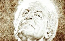 שלום חנוך. איור: נעמי ליס-מיברג לפי ציור של אלעד אקרמן