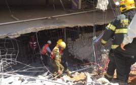 פיקוד העורף בחניון בתל אביב
