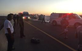 זירת התאונה הקשה בכביש 80