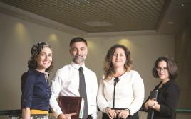 מימין: עורכי הדין ריבנר אורון, גרינברג, אליה וביטון