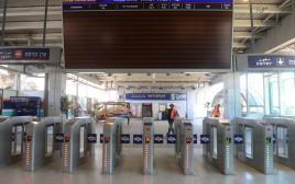 תחנת הרכבת תל אביב סבידור מושבתת