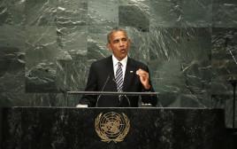 """ברק אובמה בעצרת האו""""ם"""