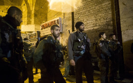 """שוטרי מג""""ב בירושלים בלילה"""