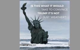 כרזה של גרינפיס נגד דונלד טראמפ