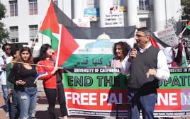 הפגנה פרו־פלסטינית באוניברסיטת ברקלי בארצות הברית