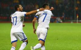 ערן זהבי חוגג את הגול מול אלבניה