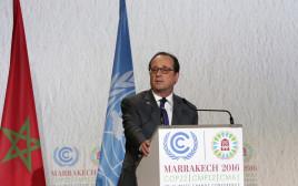 נשיא צרפת פרנסואה הולנד בוועידת האקלים, מרקש