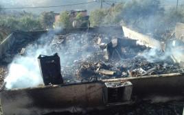 הנזק שהשאירה השריפה בחלמיש