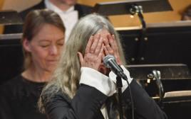 פטי סמית' בטקס הענקת פרס נובל לבוב דילן