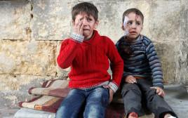 ילדים פצועים בחלב