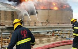השריפה בבתי הזיקוק בחיפה