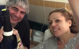 אורלי וילנאי וגיא מרוז בבית החולים