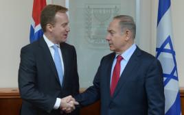 ראש הממשלה בנימין נתניהו ושר החוץ הנורבגי בורגה ברנדה
