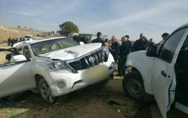זירת פיגוע הדריסה שהתרחש הבוקר באום אל חירן