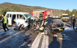תאונת דרכים קטלנית בכביש 866