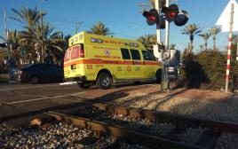 הולך רגל נהרג מפגיעת רכבת ליד כביש 25