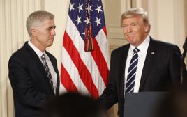 הנשיא דונלד טראמפ והמועמד לבית המשפט העליון, ניל גורסוץ'