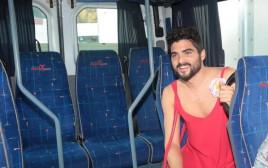 אושרי כהן בשמלה אדומה
