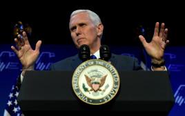 מייק פנס נואם בכינוס הקואליציה הרפובליקנית יהודית
