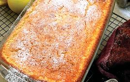 עוגת לימון משולבת בבצק בחוש וקרם, אוכל