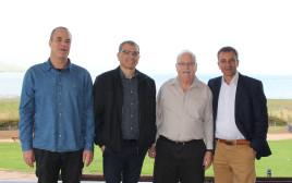 נמאס להם. מימין: יוסי בן דוד, שמעון גפשטיין, רפאל בן שטרית ועידן גרינבאום