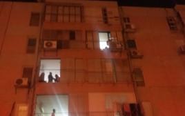 מוקד השריפה בתל אביב