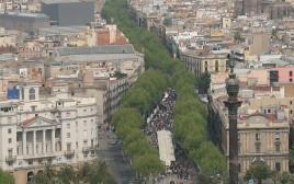שדרות הרמבלאס בברצלונה