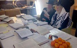 שר הבריאות יעקב ליצמן מבקר את הרב אליעזר ברלנד