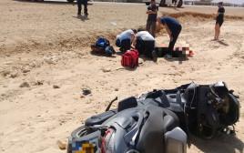 רוכב אופנוע החליק ונפצע קשה בערבה