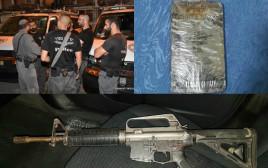 """מבצע המעצר של החשודים בסחר באמל""""ח ובסמים בצפון"""