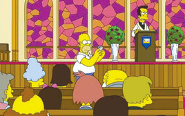 הומר בכנסייה בפרק של משפחת סימפסון