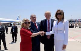 דונלד ומלניה טראמפ עם בנימין ושרה נתניהו
