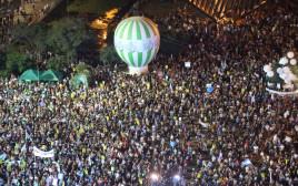 עצרת השמאל בכיכר רבין לציון 50 שנים ל-67