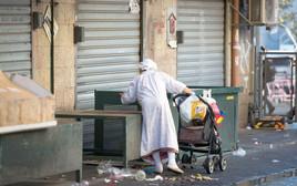 אישה מבוגרת בשוק מחנה יהודה, צילום אילוסטרציה