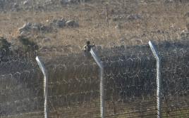 מורד סורי על גבול הגולן