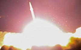 שיגור הטיל שנורה מאיראן לסוריה