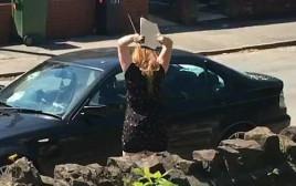 אישה החליטה להרוס לחבר את הרכב כי בגד בה