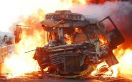 שריפת ענק בפקיסטן