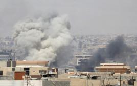 הפצצות של צבא עיראק בקרבות במוסול