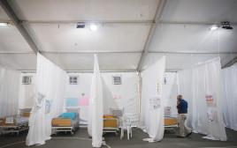 אוהל המחאה שהקימו ההורים בגן סאקר