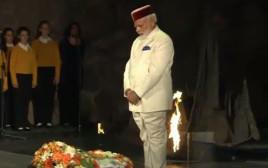 ראש ממשלת הודו מודי מבקר ביד ושם
