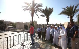 מתפללים מוסלמים באזור הר הבית