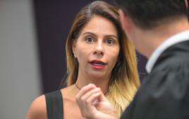ענבל אור בדיון בבית המשפט