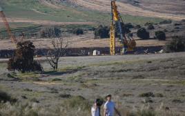 עבודות לבניית המכשול בגבול רצועת עזה