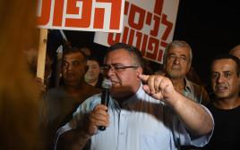 דוד ביטן בהפגנה בפתח תקווה