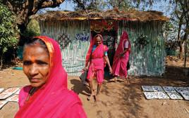 נשים הודיות בלבוש מסורתי