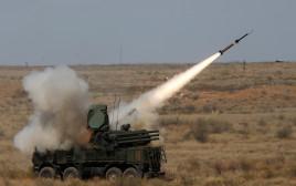 הצבא הרוסי יורה טיל קרקע אוויר